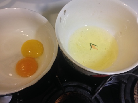 separate the yolks and the whites
