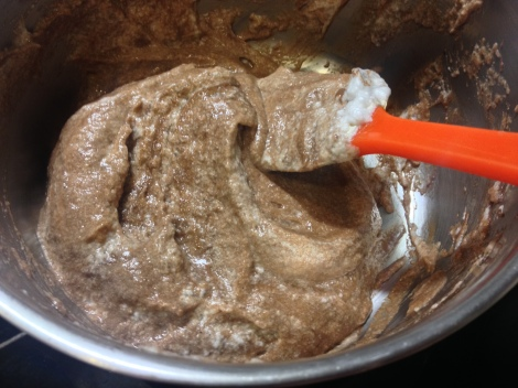 whisk half of the meringue into the chocolate mixture, then gently fold in the remaining half