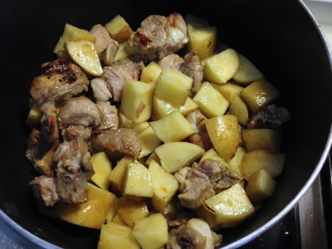 brown the pork and toss everything else in the pot