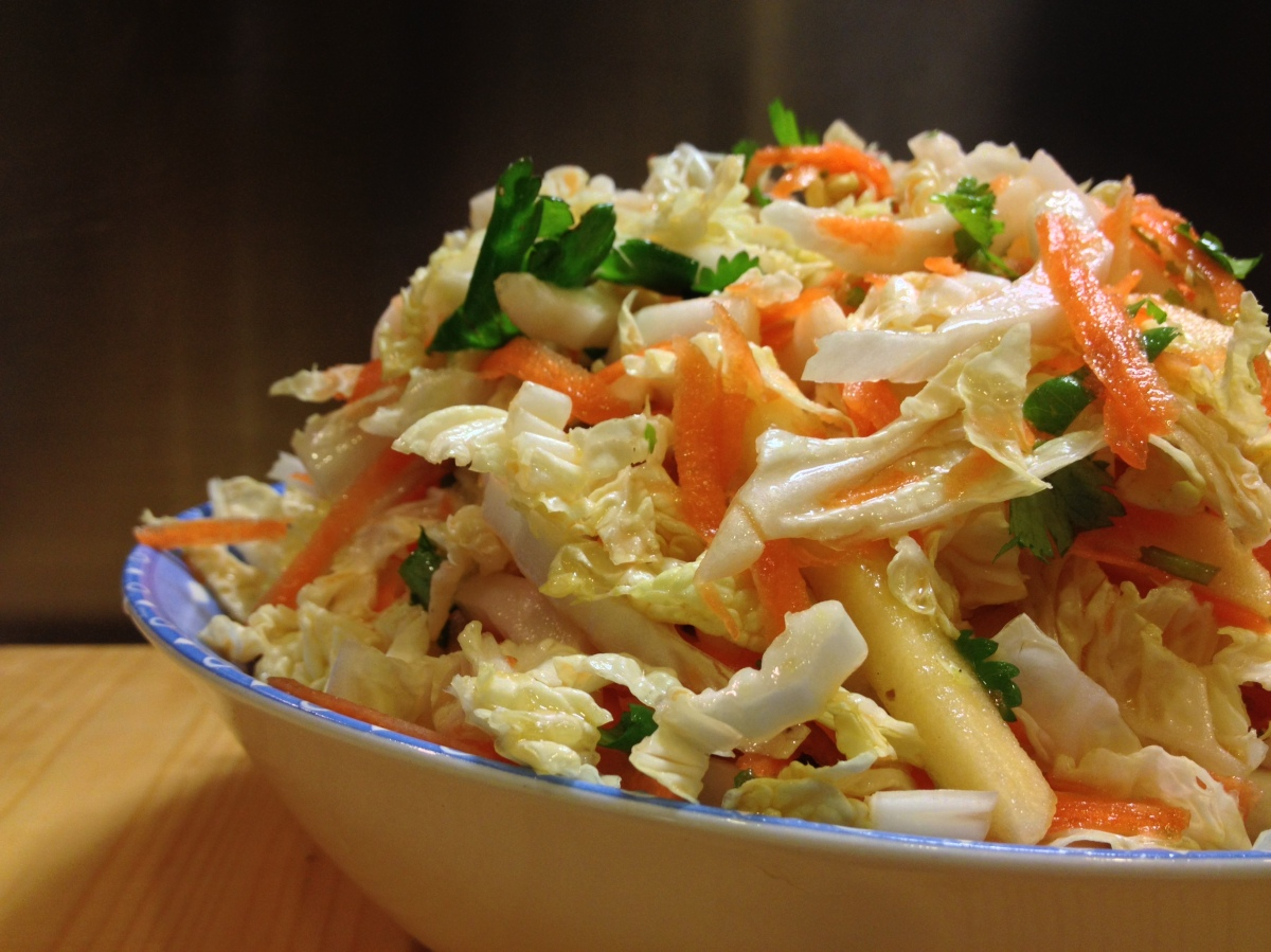 napa cabbage slaw with ponzu vinaigrette | Homemade in ...