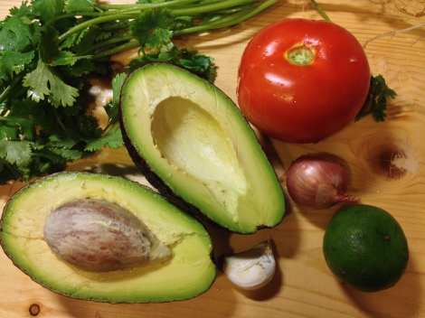 fresh ingredients are the key to a great guacamole