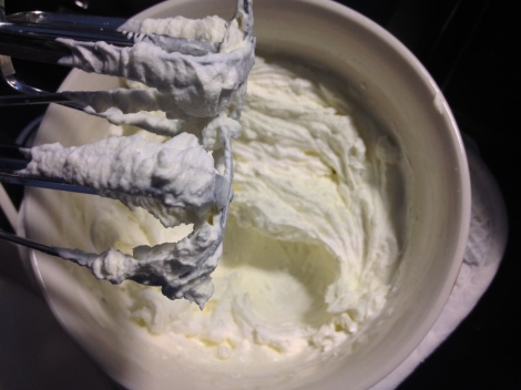 whip the heavy cream until firm