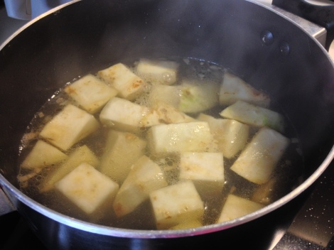 boil the cubes until soft