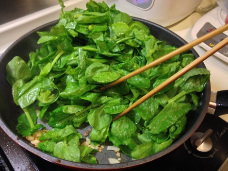 these greens cook really fast!