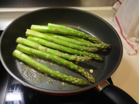 sauteed the asparagus in butter and garlic until tender