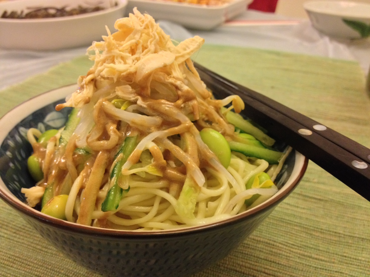 shanghainese cold noodle with sesame sauce | Homemade in Hong Kong