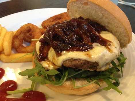 reasonably priced burger freshly made with quality beef