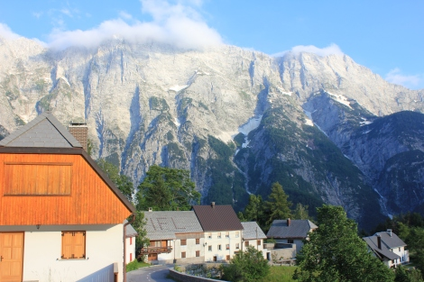the stunning backdrop in the village that we stayed in.